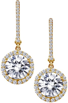 Lafonn 18K Gold Plated Round Simulated Diamond Drop Earrings