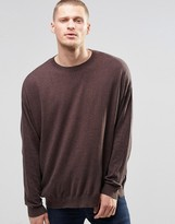 Asos Oversized Sweater in Brown Twist Cotton