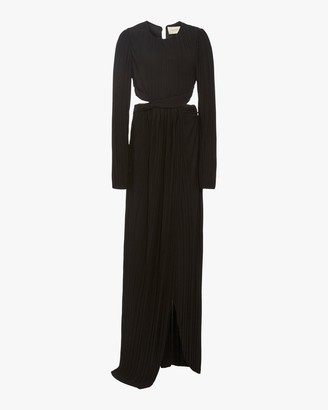 Semsem Cutout Pleated Gown