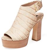 Rachel Zoe Harper Croc Embossed Platform Sandal