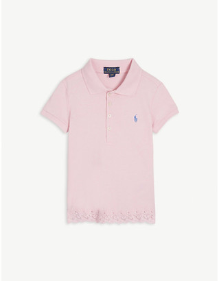 Ralph Lauren Lace hem cotton polo shirt 2-14 years