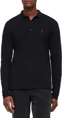 AllSaints Reform Slim Fit Long Sleeve Polo Shirt