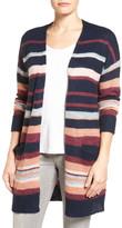 Caslon Long Stripe Cardigan (Petite)