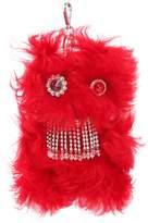 Miu Miu Embellished Monster Fur Keychain