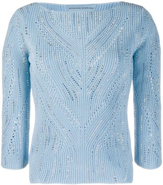 Ermanno Scervino Embellished Fitted Jumper