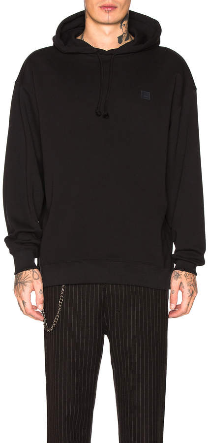 Acne Studios Farrin Face Hoodie in Black | FWRD