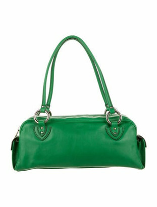 Marc Jacobs Leather Shoulder Bag Green