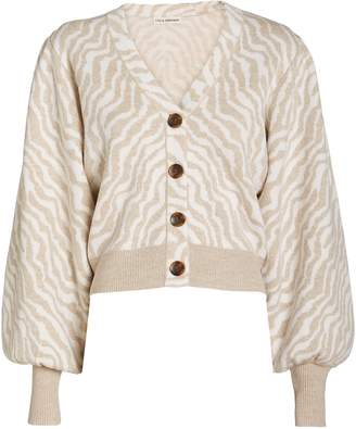 Ulla Johnson Cici Zebra Knit Wool Cardigan