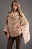 Minnie Rose Rabbit Fur Ruana in Buckskin