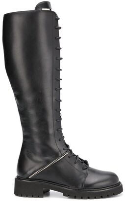 Giuseppe Zanotti Lace-Up Knee-High Boots