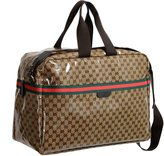 Gucci Men's Crystal GG Canvas Travel Carry-On Luggage Bag