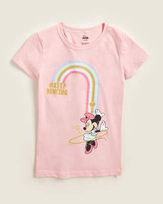 Disney Girls 4-6x) Rainbow Minnie Mouse Tee