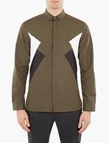 Neil Barrett Green Retro Modernist Shirt