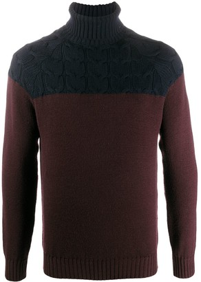 Eleventy Two-Tone Roll-Neck Jumper