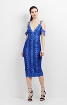 Nicole Miller Cold Shoulder Lace Combo Dress