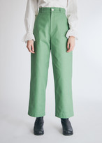 Neul Women's Chino Pant in Stone Green, Size 1 | 100% Cotton