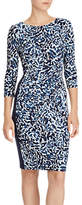 Lauren Ralph Lauren Floral Ruched Jersey Dress, Multi