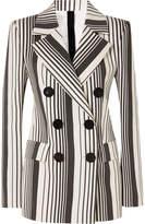 Petar Petrov Jill Striped Wool And Silk-blend Jacket