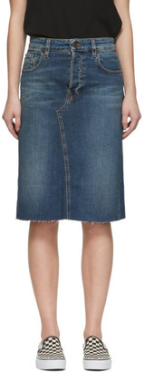 6397 Blue Denim Cut-Off Skirt