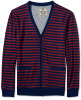 Chor Sweater, Faux Sweater Knit Striped Cardigan