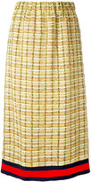 Gucci GG web midi tweed skirt - women - Silk/Cotton/Linen/Flax/Metallized Polyester - 38