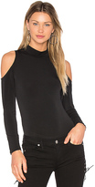 BCBGeneration Cold Shoulder Bodysuit in Black