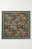Thumbnail for your product : Isabel Marant Floral-print Silk Scarf - Black