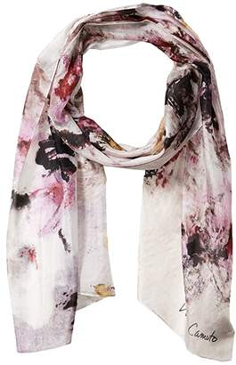 Vince Camuto Fresco Silk Scarf (Orchid) Scarves