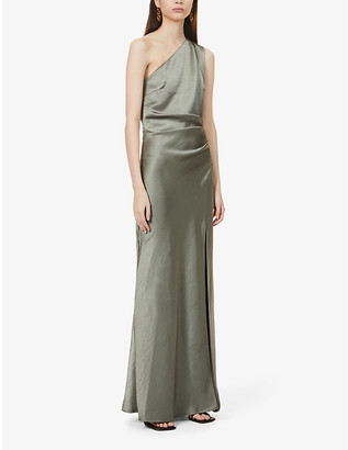 Bec & Bridge Alegra asymmetric satin maxi dress