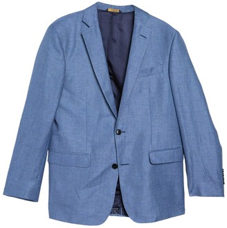 Brooks Brothers Solid Notch Collar Double Button Jacket