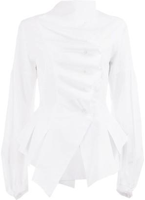 aganovich Asymmetric Ruffle Shirt