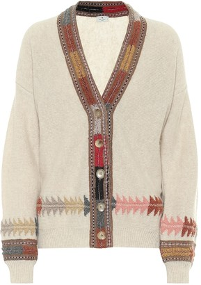 Etro Embroidered wool-blend cardigan
