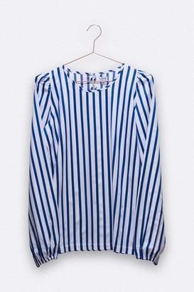 LOVE kidswear - Paula Blouse In Blue White Stripes - XS/S