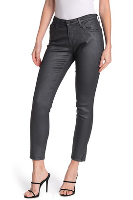 AG Jeans Coated Denim Ankle Crop Skinny Jeans
