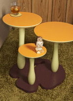Mushroom 3-Top Side Table