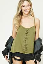 Forever 21 Satin Lace-Up Cami