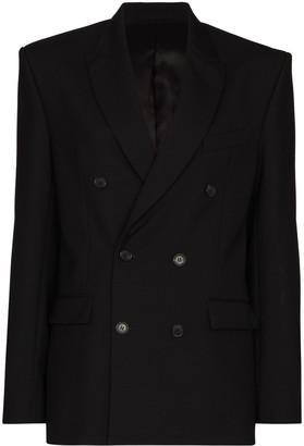 Wardrobe NYC Double-Breasted Virgin Wool Blazer