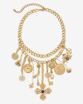 White House Black Market Charm Statement Necklace