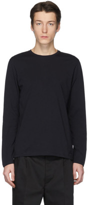 Jil Sanderand Navy Jersey Long Sleeve T-Shirt