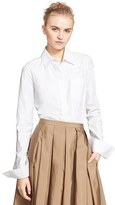 Michael Kors Women's Stretch Cotton Poplin Shirt