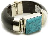 Bejeweled Black Turquoise Bracelet