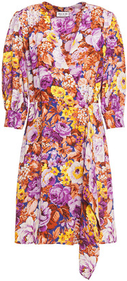 Paul & Joe Floral-print Crepe De Chine Mini Wrap Dress