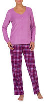 Jasmine Rose Two-Piece Plaid Pyjama Set