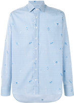 Etro striped fish print shirt - men - Cotton - 41