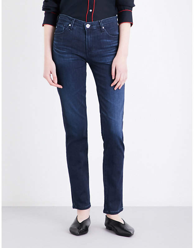 AG Jeans Ladies Blue Comfortable The Prima Cigarette Mid-Rise Jeans