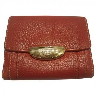 Lancel Adjani Red Leather Wallets