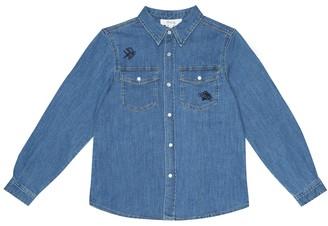 Bonpoint El Dorado embroidered denim shirt
