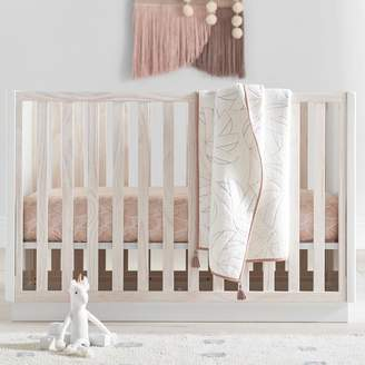 west elm Modernist Convertible Crib - White