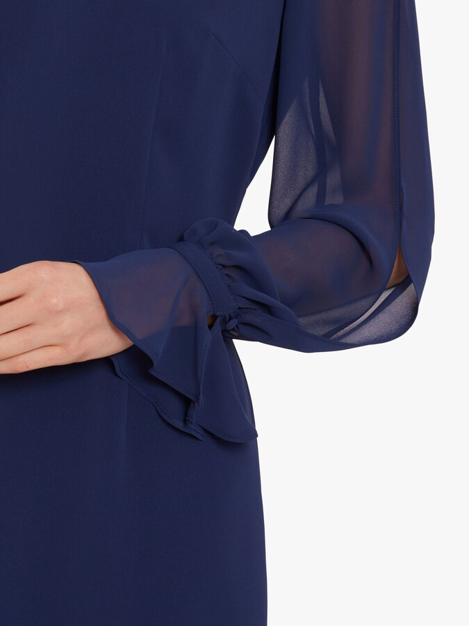 Thumbnail for your product : Gina Bacconi Luvia V-Neck Crepe Dress