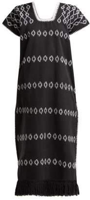 Pippa Holt - No.4 Embroidered Cotton Kaftan - Womens - Black White